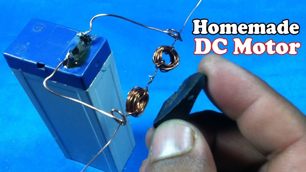 How To Make A Simple Dc Motor At Home Simple Dc Motor Engineering Science Simple Motor