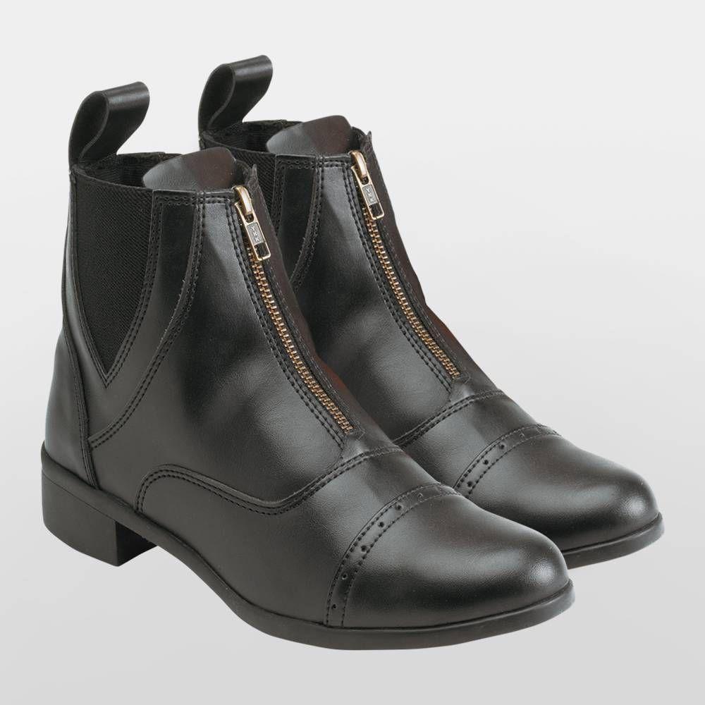 Equi Theme Zip Synthetic Jodhpur Boots - Adults | Equestrian