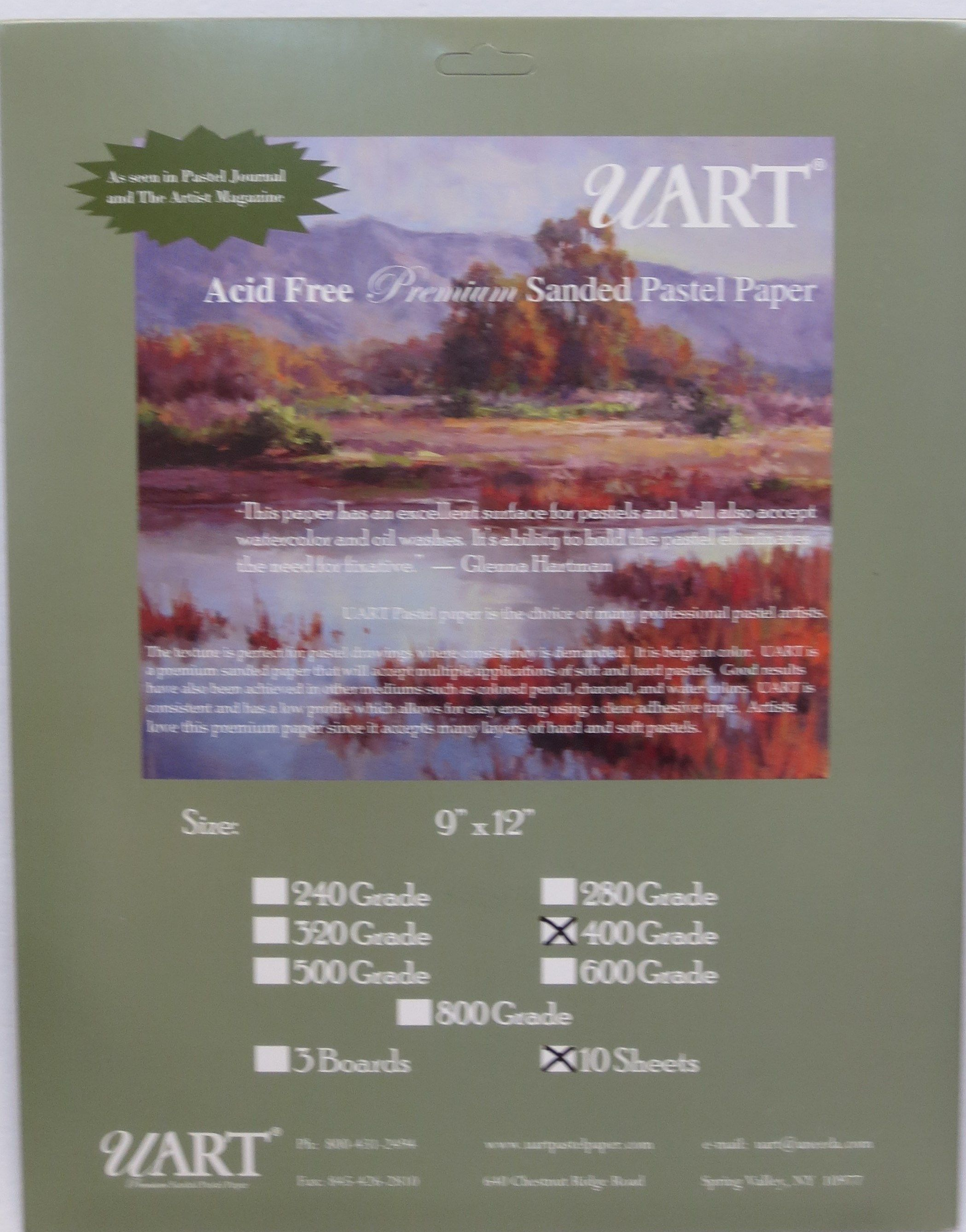 uart premium sanded pastel paper i use 280 grade which is very
