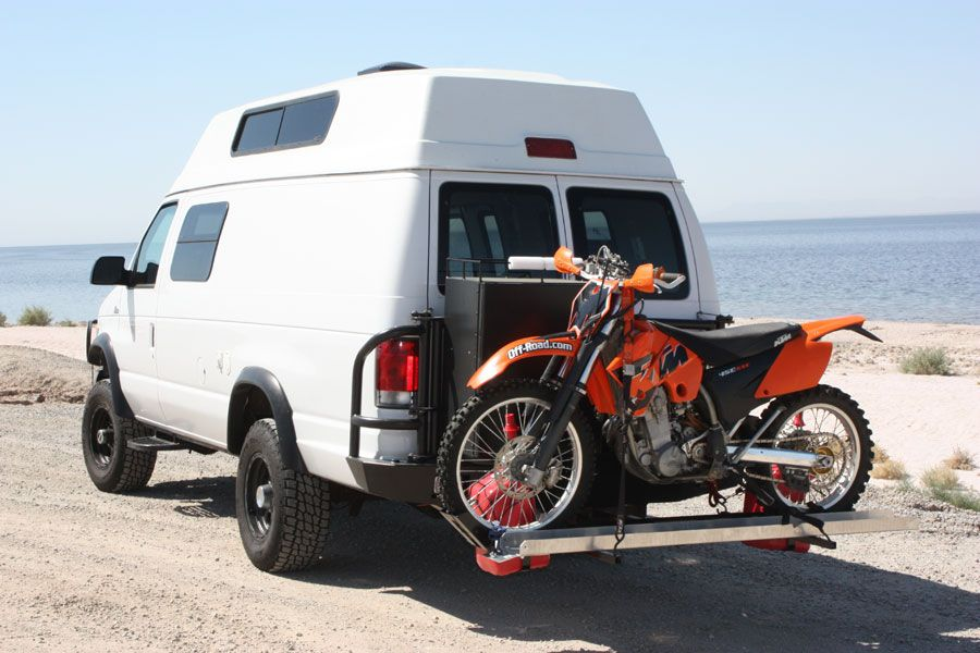 motorcycle rack truck front off road