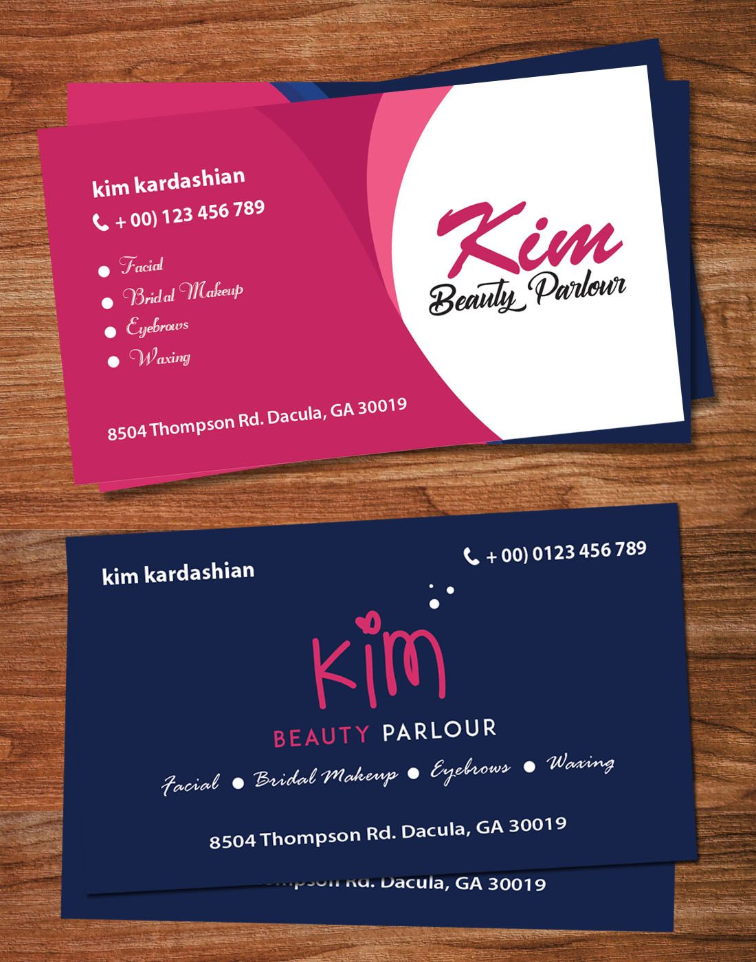 Beauty Parlour Visiting Card Template Salon Business Cards Beauty Parlor Hair Salon Business