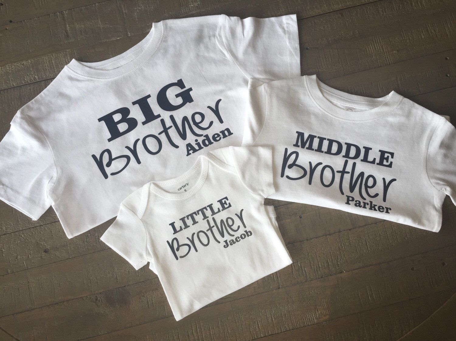 5a80b39cf Personalized big brother, middle brother, little brother shirt set by  TugboatsAndTutus on Etsy https