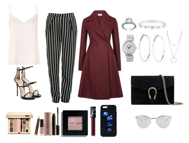 """Untitled #40"" by valeriatrujillog on Polyvore featuring Glamorous, L'Agence, Harris Wharf London, Giuseppe Zanotti, MICHAEL Michael Kors, Cartier, Jennifer Fisher, Laura Mercier, Bobbi Brown Cosmetics and NARS Cosmetics"