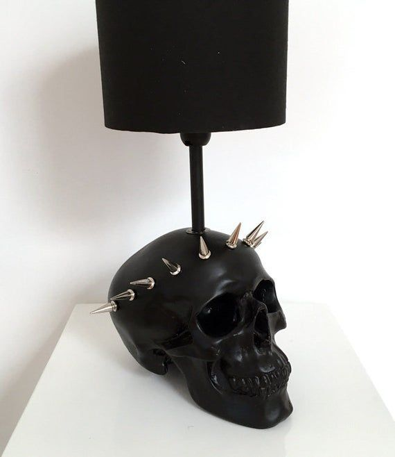 Photo of Liberty Skull Lamp // Skull Decor // Table Lamp