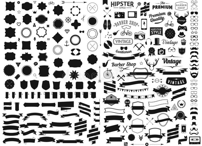 Set Of Vintage Styled Design Hipster Icons Vector Signs And Symbols Templates Ph Ad Hipster Icons Vecto Hipster Icons Digital Clip Art Vintage Fashion