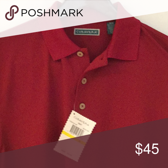 f41a998ab Cubavera Polo Shirt Red Cubavera Men's Polo in darker red with hint of  rust. 3