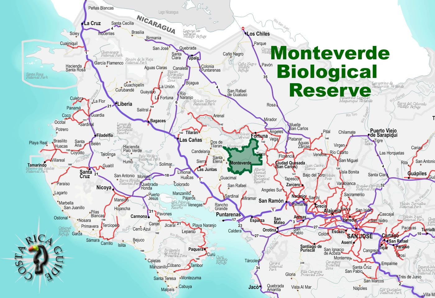 Image result for monteverde costa rica map | Okay, really cool ... on formosa on a map, heard island on a map, atlantic ocean on a map, chile on a map, guyana on a map, new south wales on a map, british north borneo on a map, honduras on a map, dr congo on a map, cuba on a map, the sudan on a map, central america on a map, the seychelles on a map, nicaragua on a map, germany on a map, botswana on a map, sea of cortez on a map, venezuela on a map, southern india on a map, galapagos islands on a map,