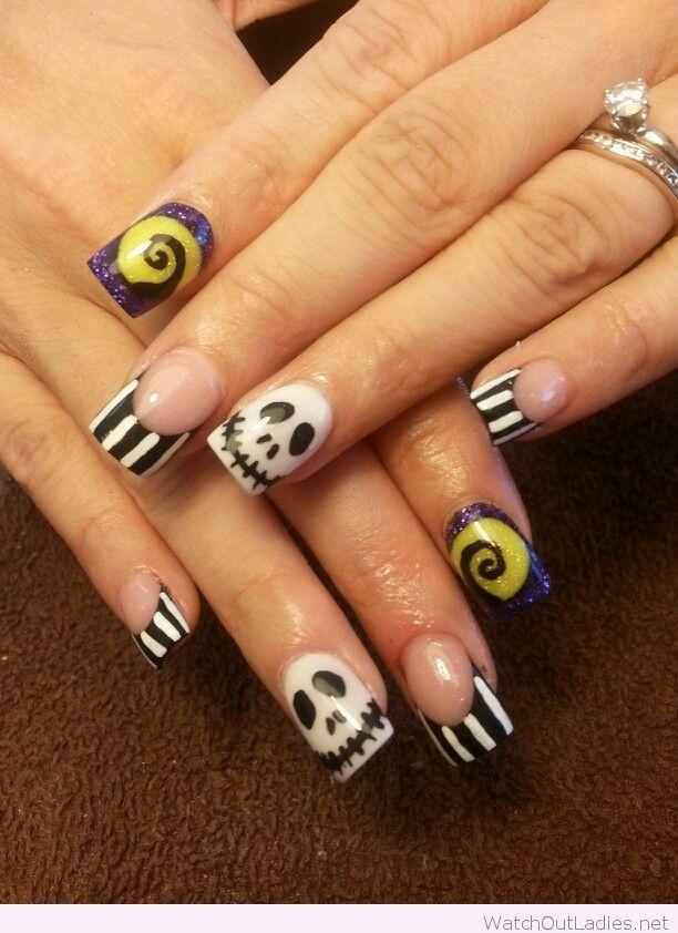 Nightmare before Christmas Halloween nails   watchoutladies.net ...
