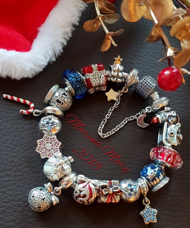 Pandora winter Christmas bracelet | Pandora bracelet designs ...