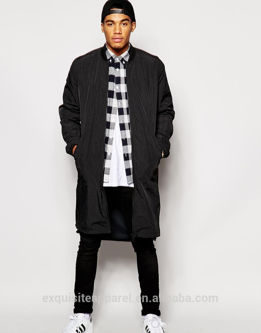 Collection Long Bomber Jacket Mens Pictures - Reikian