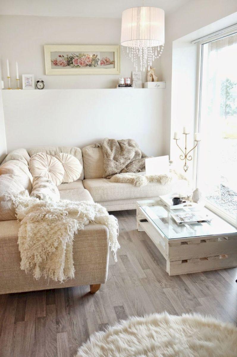 Stunning small living room decor ideas on a budget (16)   Shabby ...