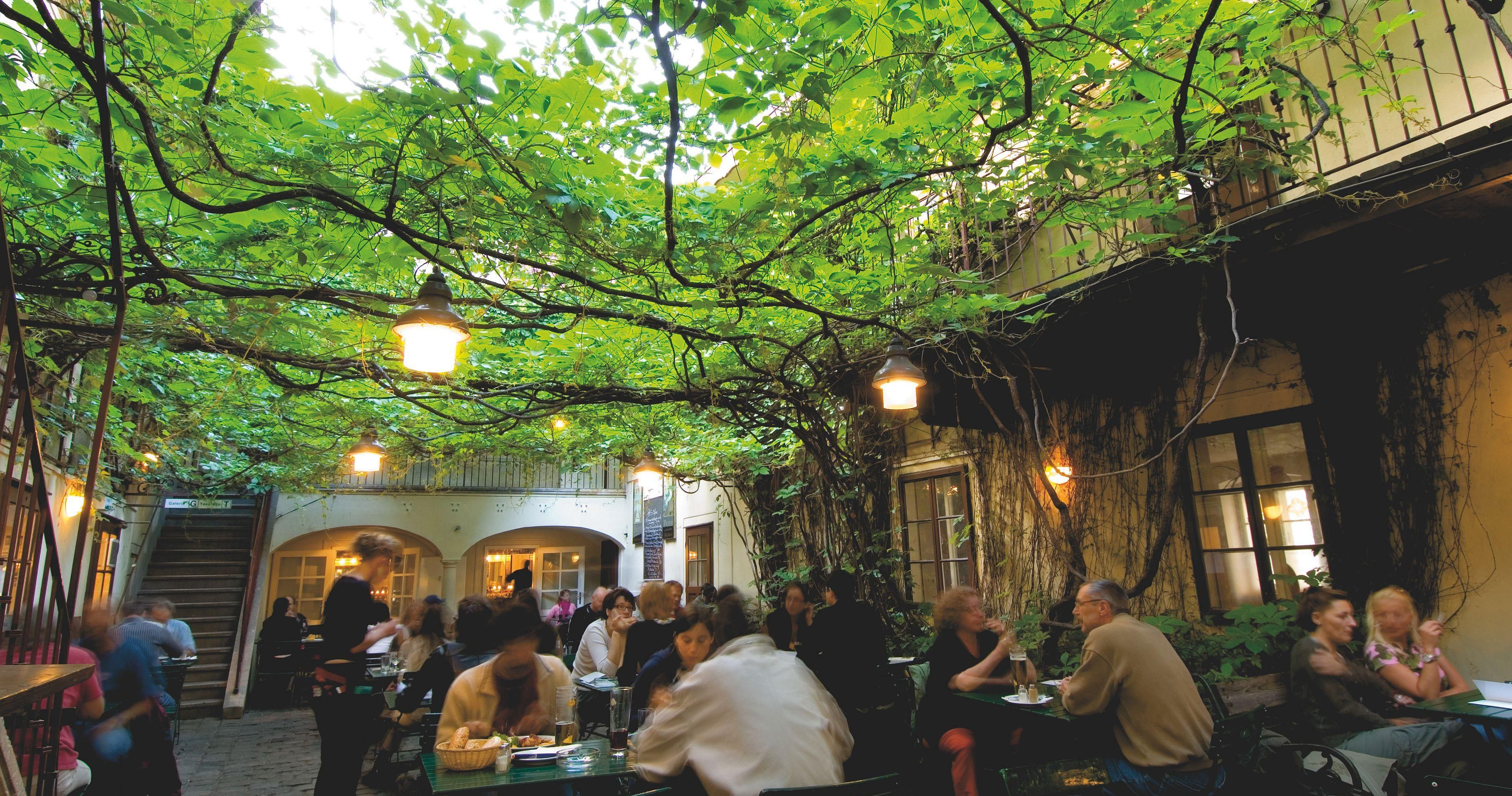 The Revitalized Biedermeier District Near The Museumsquartier Has Countless Restaurants Cafes And Bars With Idyllic Gardens Courtyard Cafe Vienna Courtyard
