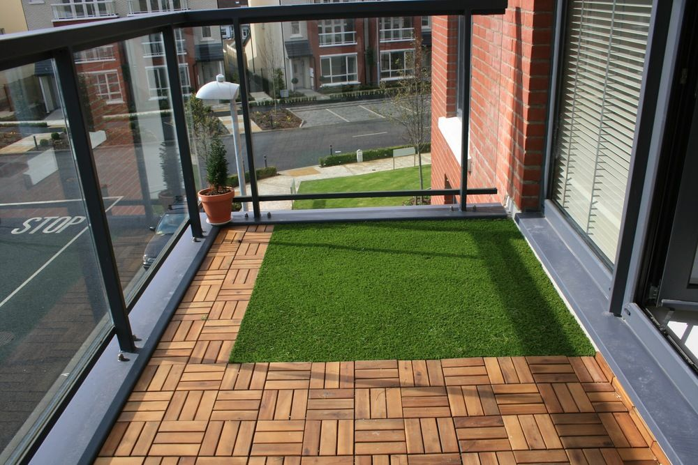 Balcony artificial grass landscape design pinterest for Balcony artificial grass