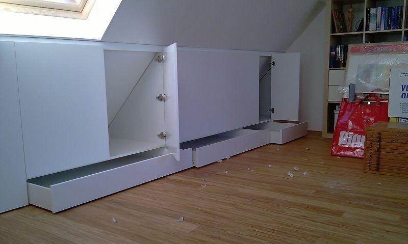 Zolderkasten Dachzimmer Einrichten Einbaumobel Dachboden Speicher