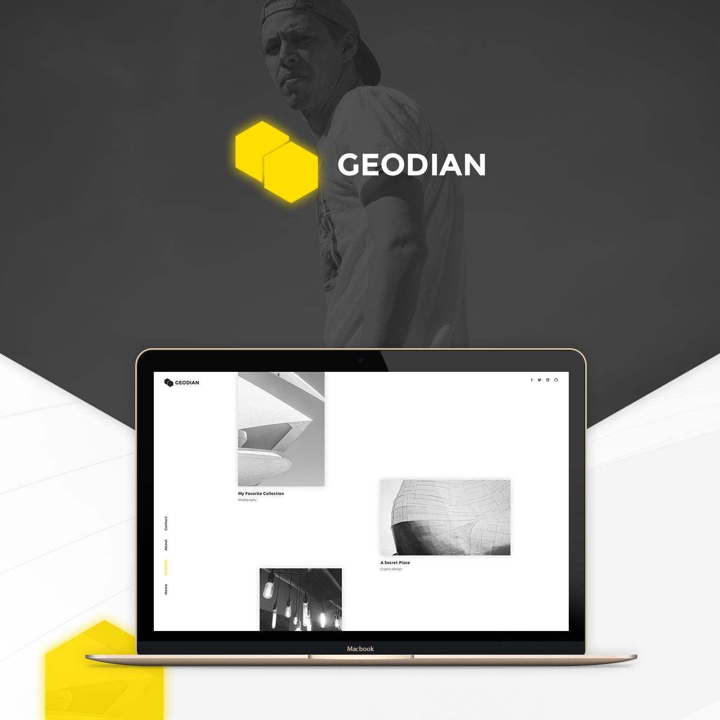 Geodian Free Portfolio  Resume Website Template Freebies Free