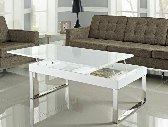 La Table Basse Relevable Pour Votre Salon Fonctionnel Archzine Fr Table Basse Laquee Table Basse Table Basse Relevable