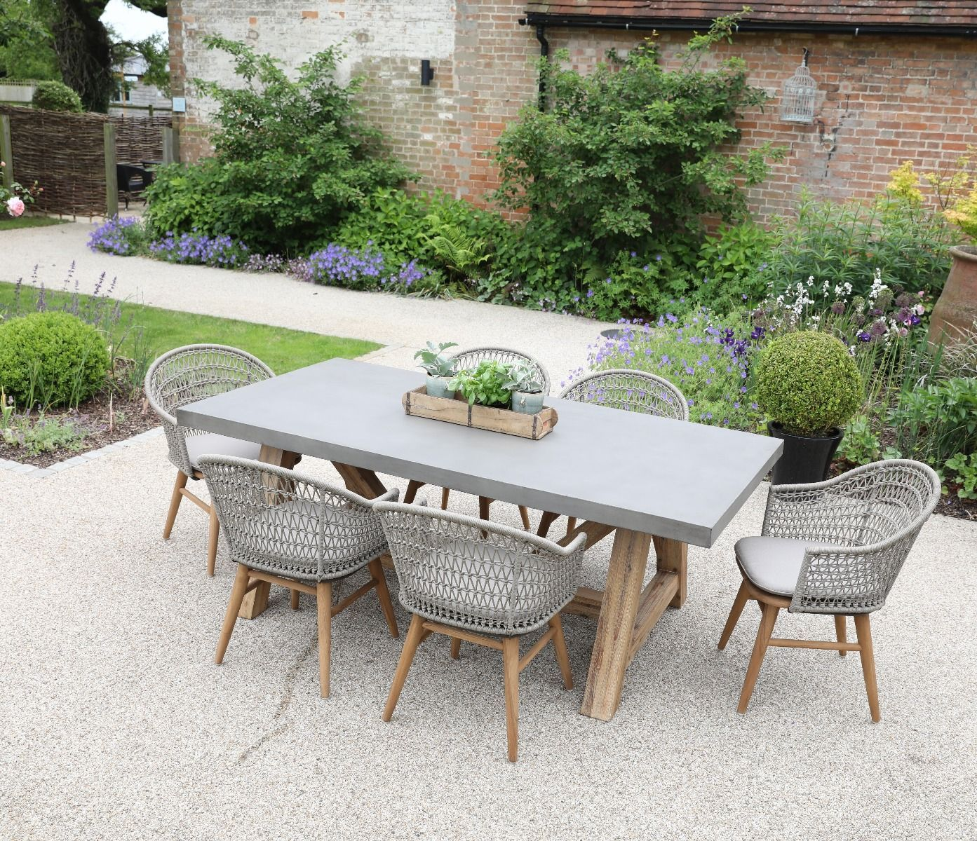 Roma Polished Concrete Outdoor Dining Table Jo Alexander Gartenmöbel Design Terrassen Tische Terrassentisch