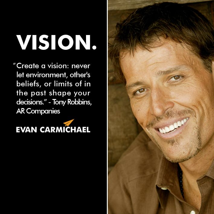 Pin by Evan Carmichael on #Believe | Tony robbins quotes