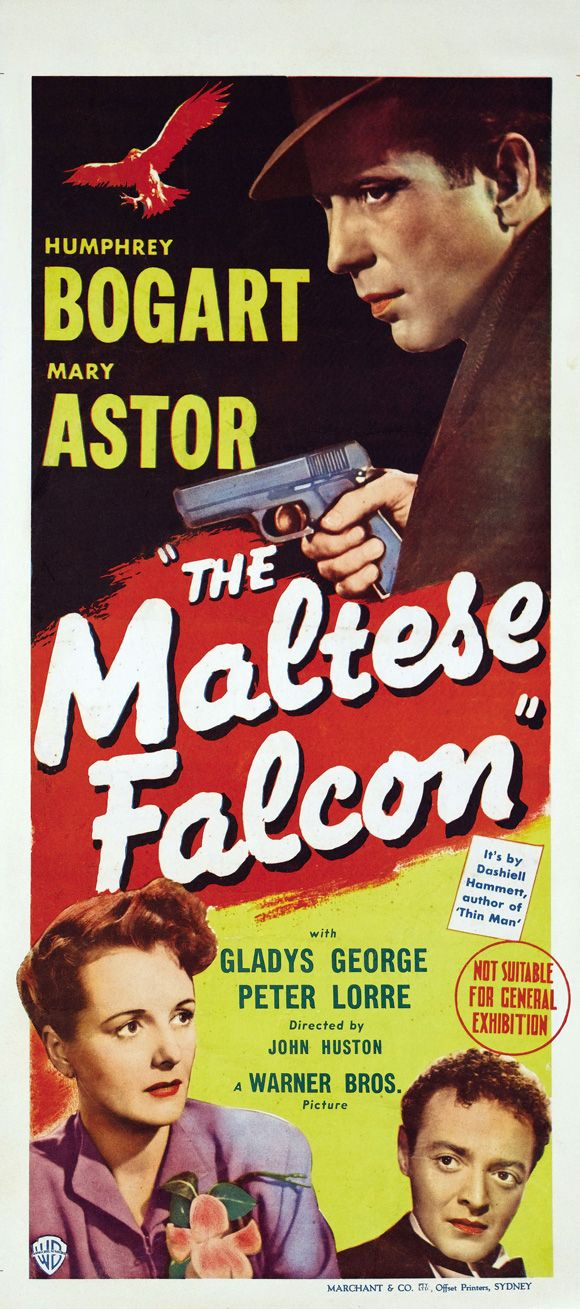 The Maltese Falcon 1941 Bogart Movies Classic Movie Posters Old Movie Posters