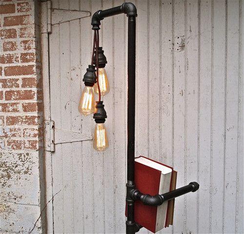 Industrial Floor Lamp Bookshelf by Stella Bleu Designs eclectic ...