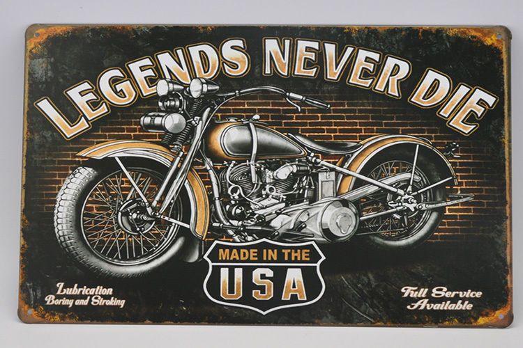 New 8X12'' MOTORCYCLE metal painting wall art sticker bar decor Tin sign TP380