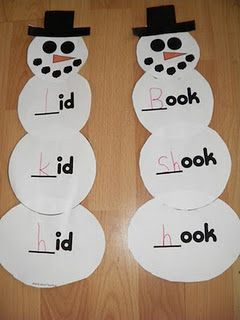 Word family snowman---super winter idea!