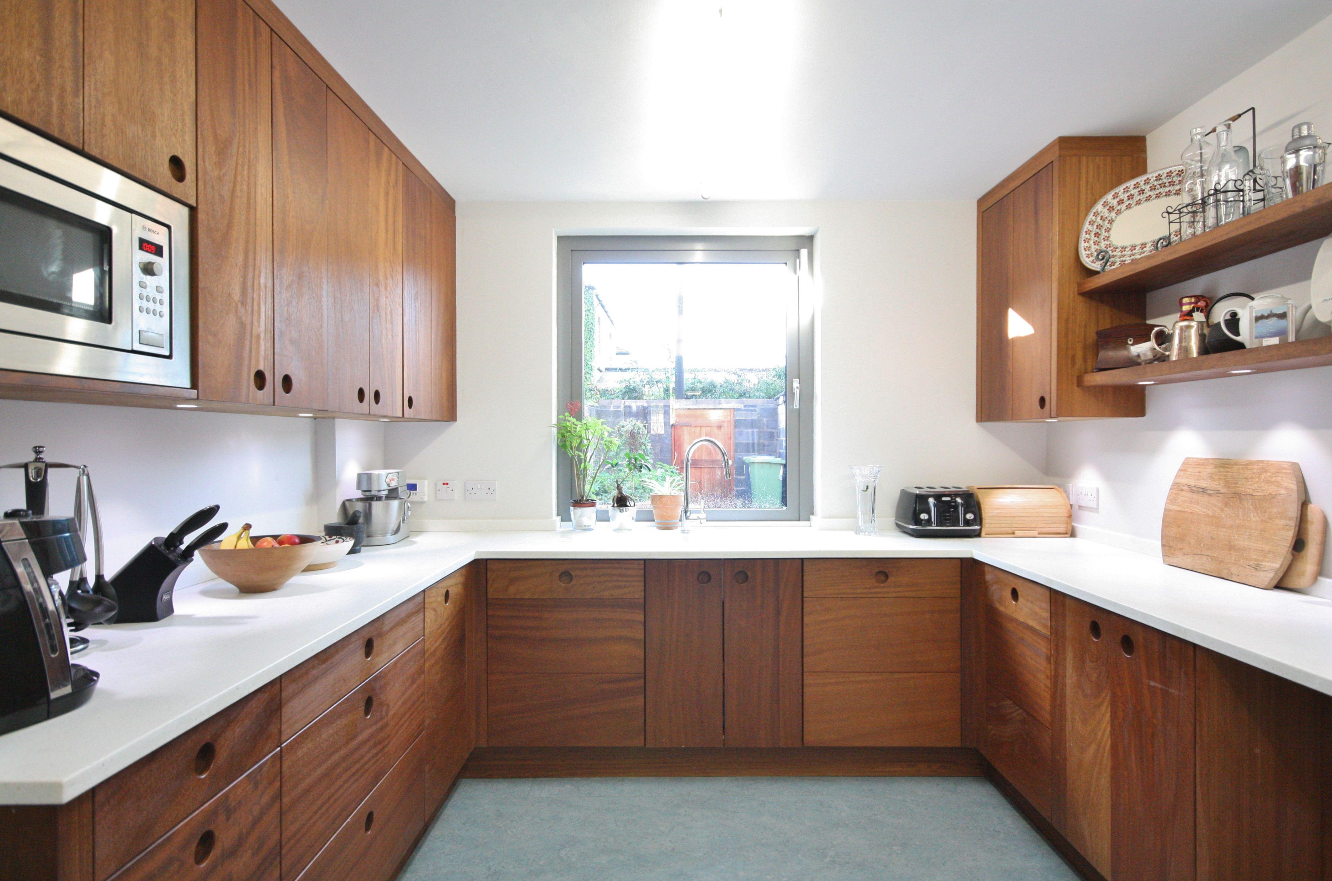 Bespoke Iroko Kitchen Terenure Enigma Design 4a Modern Retro Kitchen Kitchen Interior Asian Interior