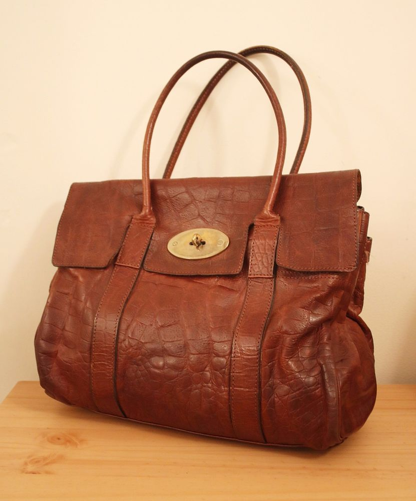 dc2f4c3bce Authentic Mulberry Bayswater Bag Brown Leather Chocolate Dustbag   AUTHENTICATED