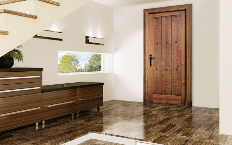 Puertas r sticas y tarimas de imitaci n cer mica puertas for Puertas interiores rusticas