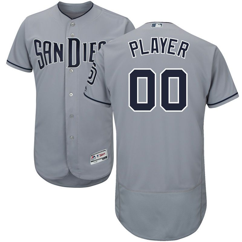 9ecb6b7b508 San Diego Padres Majestic Road Flex Base Authentic Collection Custom Jersey  - Gray
