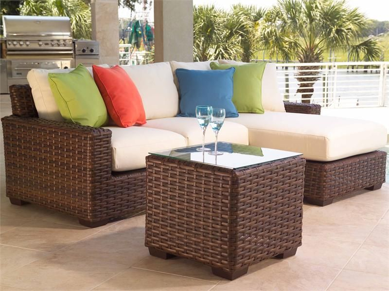The Contempo 3 Piece Sectional Seating Set By Lloyd Flanders Modern Patio Furniture Outdoor Patio Furniture Outdoor Furniture Cushions