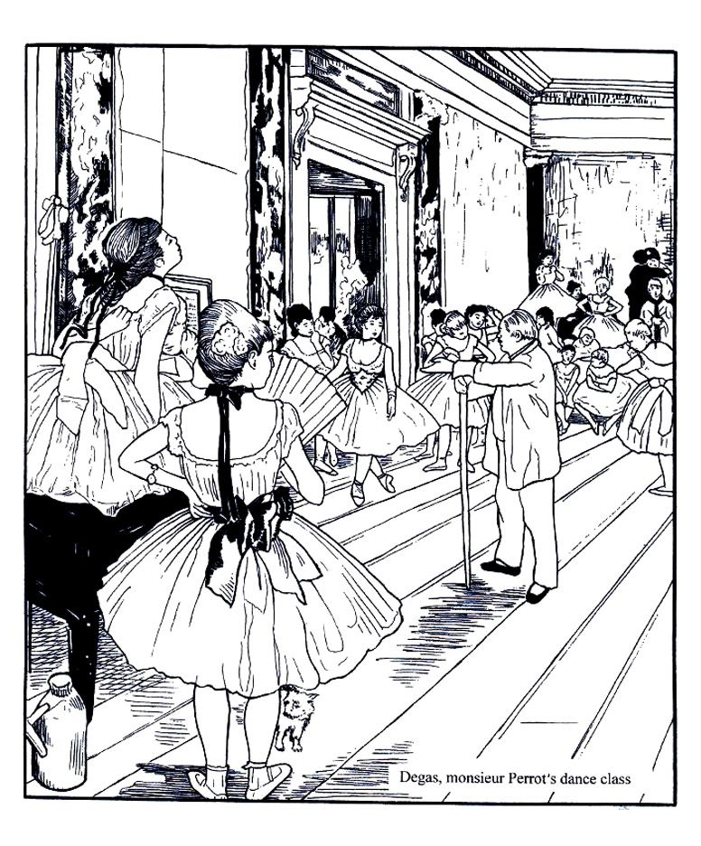 Free coloring page coloring-adult-degas-dance-class coloring-adult - copy coloring pages of dance shoes