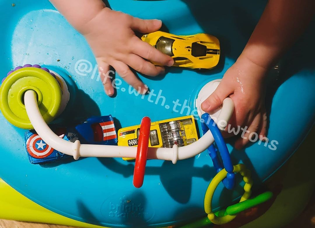 Slobbery baby hands playing with cars is such a wonderful sight E is growing so much and developing faster than I could imagine He definitely wants to be like one of the...
