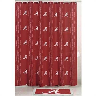 Shower Curtain Alabama Crimson TideShower Curtains