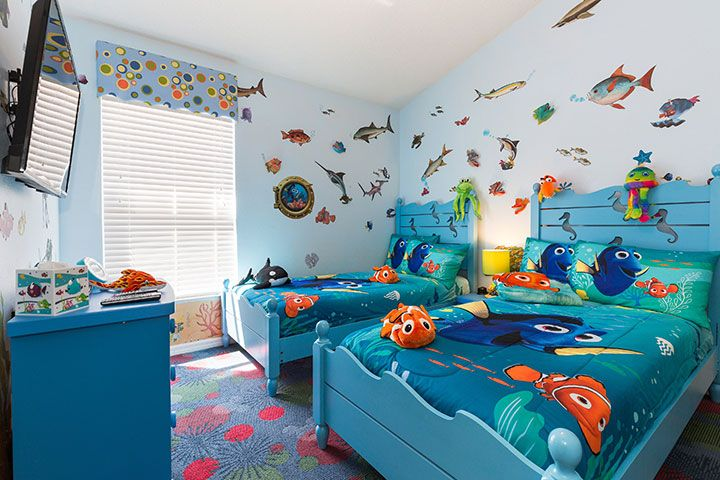 Finding Dory Nemo Themed Kids Room Orlando Insider Vacations Themed Kids Room Kids Bedroom Decor Game Room Kids