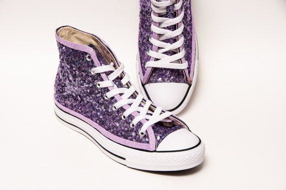 b9997dde1cf29d Sequin - Lavender Purple Converse Hi Top Canvas Sneaker Shoes Sequin  Converse