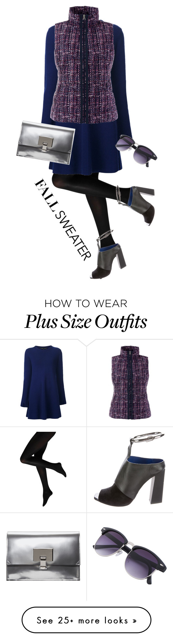 """""""Blue Proenza Fall Sweater"""" by nisak-tf on Polyvore featuring Proenza Schouler, Lands' End, contestentry and fallsweaters"""