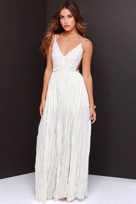 8c14bcc1a4 ... to casual here but i keep finding beautiful white maxi dresses. breezy  beacht and 100$$. Sorry i love a good bargain :) Snowy Meadow Crocheted  Ivory ...