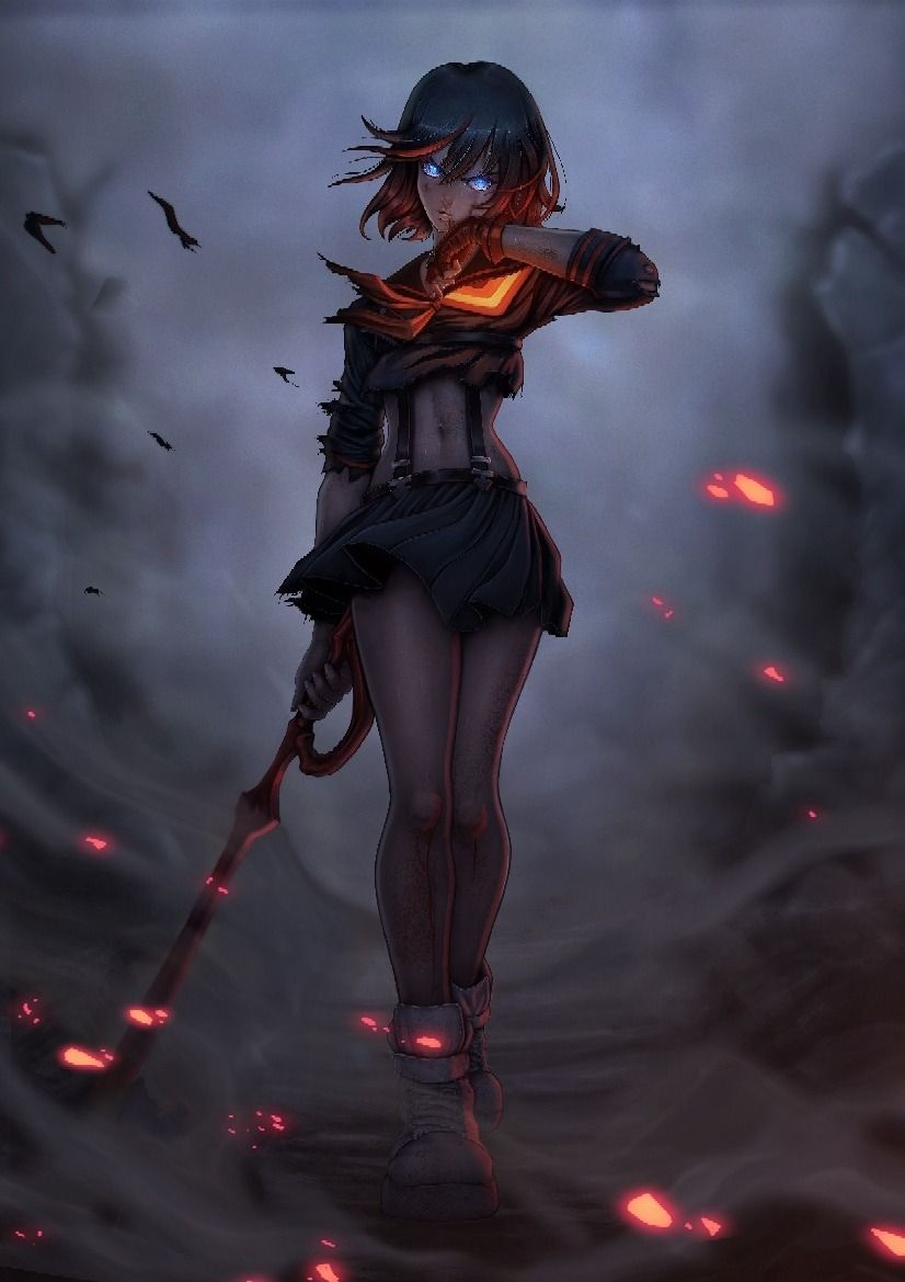 Ryoku Kill La Kill Dark Anime Anime Art Girl Anime Characters
