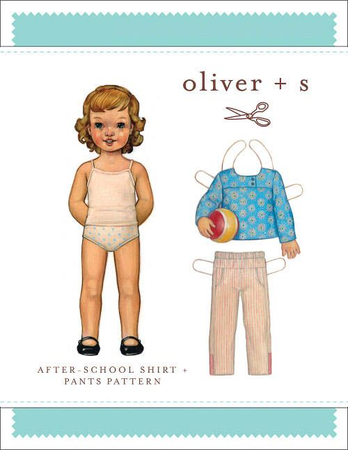 After School Shirt + Pants - PDF Pattern - Oliver+S - $15.95 : Whimsical Designs Fabric Shop #oliverands #whimsicalfabric #fabricshop
