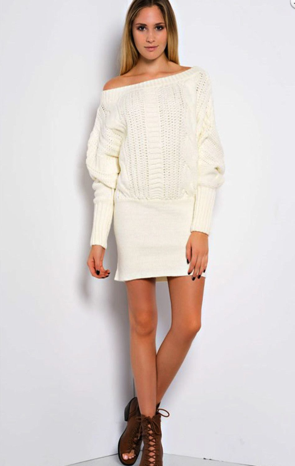 Simply Sensational Cable Knit Tunic Sweater - Ivory | Shop Lucky ...