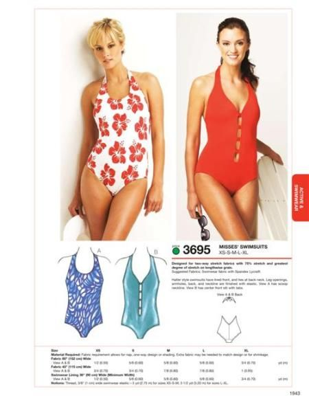 Kwik Sew 3695 Swimsuits | sewing swimsuits | Pinterest