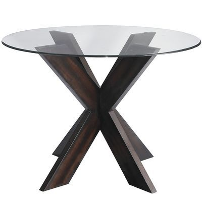 Round Glass Top Table Simon X Table Base Espresso Dining Table Bases Glass Dining Table Round Glass Table
