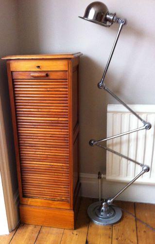 Stunning Tambour Door Antique Oak Office Storage Filing Cabinet Roller Shutter Ebay Filing Cabinet Vintage Filing Cabinet Antique Office Furniture
