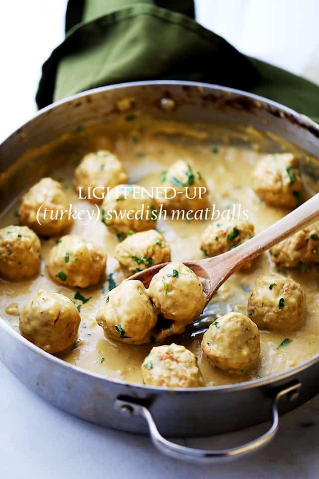 Photo of Lightened-Up Turkey Swedish Meatballs Recipe | Easy Appetizer Idea