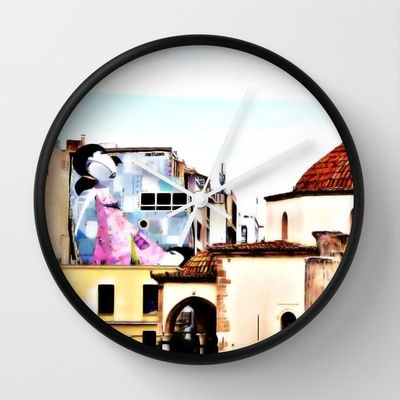 Athens 2007 Wall Clock by Pia Schneider [atelier COLOUR-VISION] - $30.00 #society6 #wallclock #clock #art #athens #home