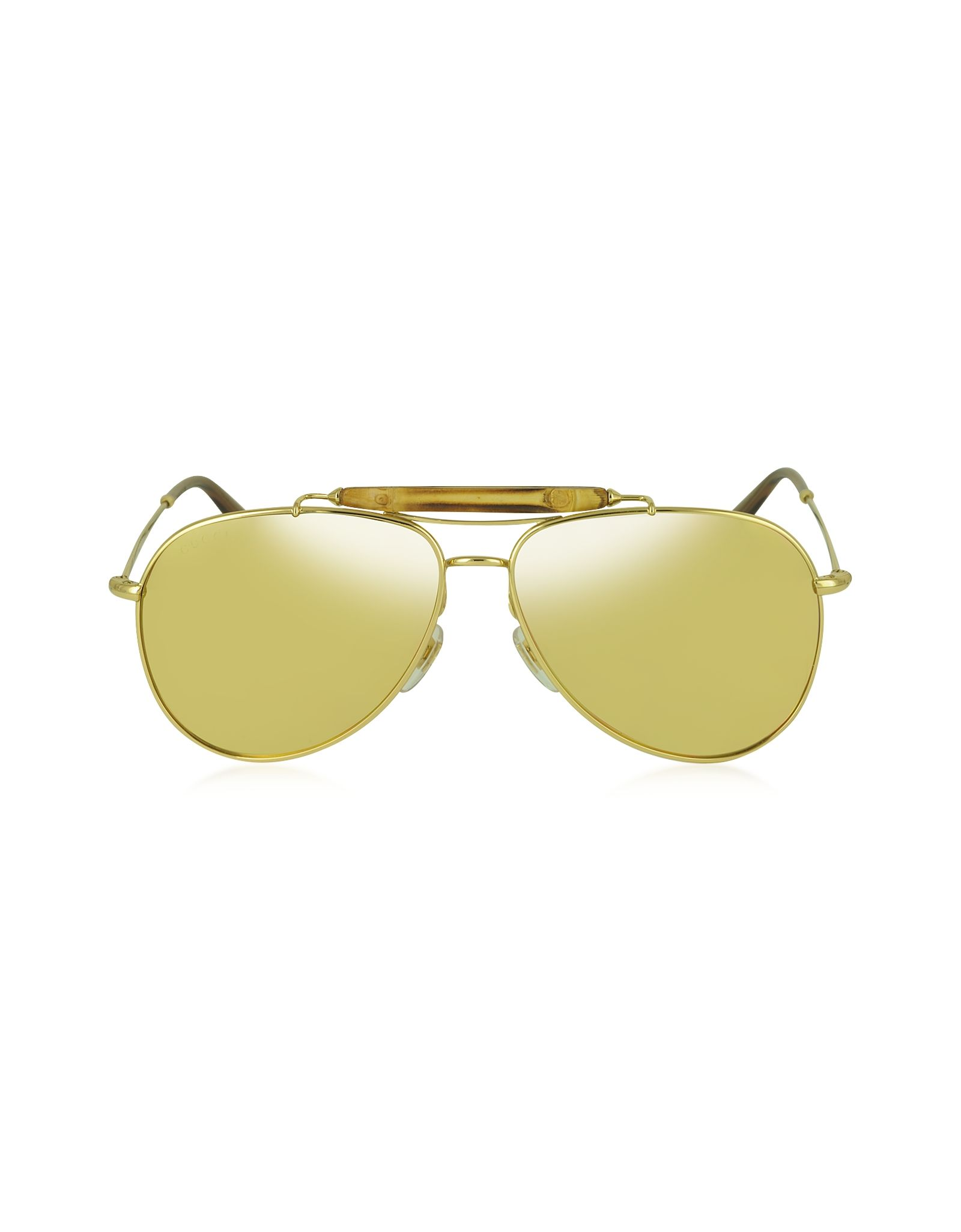 Gucci GG 2235/N/S 705IJ Gold Plated Aviator with Bamboo Women\'s ...