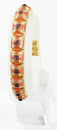 Joan Rivers enameled link bracelet with stones   http://www.grannysjewelrybox.com/si1229.shtml