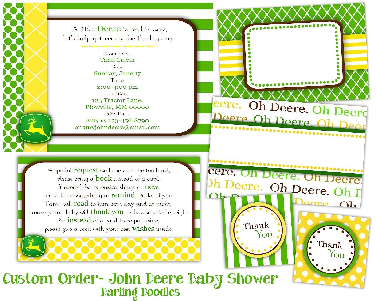 John Deere Baby Shower Invitation Ideas