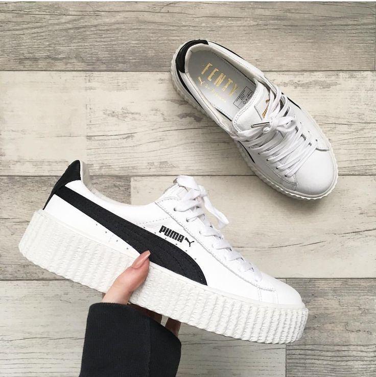 Puma Fenty In White Black Weiss Schwarz Foto Inslopez Puma Shoes Women Sneakers Pumas Shoes